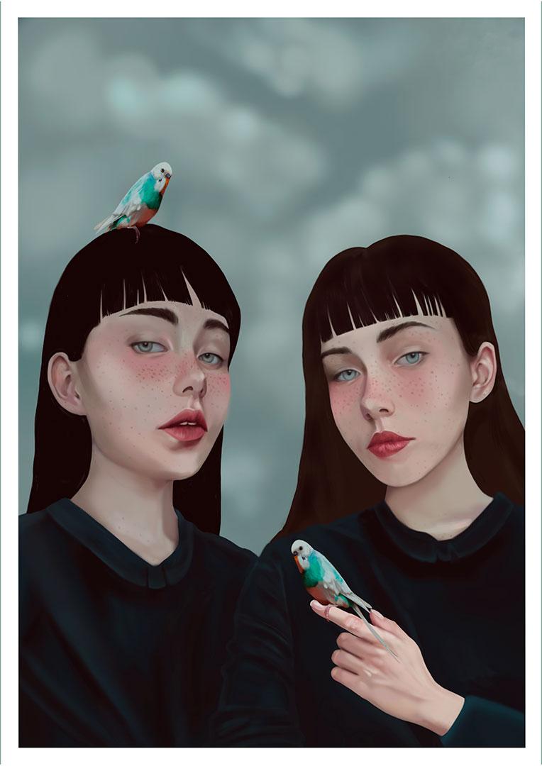 Patricia Mariano:Digital Art:Illustration:original art